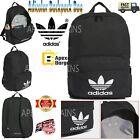 Adidas Adicolor Backpack Classic Black Backpack White Trefoil /School/Gym Bag UK