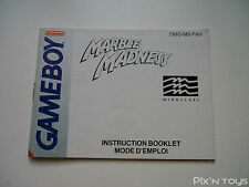 NINTENDO GAME BOY / Notice, Instructions Marble Madness [ DMG-MB-FAH ]