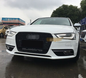 A4 Front Grill Mesh Grille for Audi A4 B8.5 & S4 2012-15 To RS4 Black