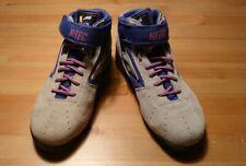 VINTAGE HI-TEC UK5 GREY/BLUE/PINK 80s 90s Hi Tec Shoes Trainers Boots *Rare* VGC