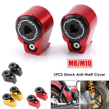 2PCS Motorcycle Bike Rear Shock Trim Spools Slider Stand Anti-theft Cover M8/M10