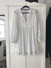Zara Blanco Y Negro Lunares Vestido Talla Pequeña BNWT Nuevo con etiquetas