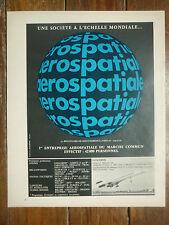 3/1971 PUB AEROSPATIALE CONCORDE HELICOPTERE LANCEUR ARIANE ORIGINAL FRENCH AD