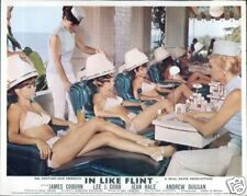 IN LIKE FLINT JAMES COBURN RARE BRITISH LOBBY CARD GIRLS HAIRDRESSER BIKINI