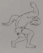 HEAVY METAL Original Production ART, stamped with imprint, DEN in battle, 1981