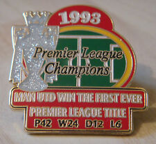 MANCHESTER UNITED Victory Pins 1993 PREMIER LEAGUE CHAMPIONS Badge Danbury Mint