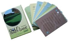 """Golfers Inner Game Cards Giving Hints, Tips To Improve Game """"New"""""""