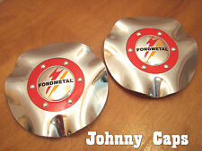 Fondmetal Wheels Chrome Center Cap #T201 Custom Wheel Center Caps (2)