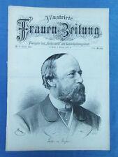 FRAUEN ZEITUNG 1881 - ENGRAVING : GUSTAV VON MOSER ECRIVAIN WRITER