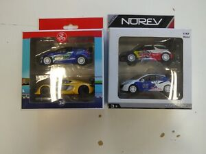 Lot de 4 Voitures Miniatures Rallye Racing Course 1/43 Norev Jouets Jeux X3
