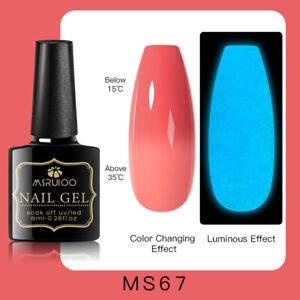 MSRUIOO Luminous Color-Changing UV Gel Nail Polish Soak Off Salon Manicure MS67