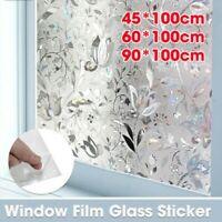 3D Fenster Folie Blumen Glas Aufkleber Privatsphäre Scroll Statisch Haften Frost