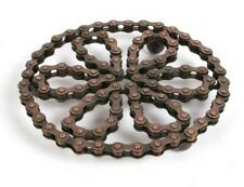 Recycled Bike Chain Trivet Pot Stand with ball feet 155 mm diameter