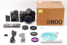 【Mint in Box】Nikon D600 24.3MP DSLR Camera w/NIKKOR 50mm f1.4D From Japan #743