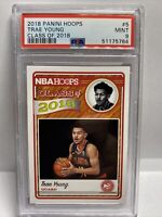 2018-19 NBA Hoops Trae Young Rookie Class Of 2018 PSA 9 Hawks Low Pop RC 🔥🔥