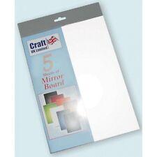 A4 CARTONCINO fogli SPECCHIO Mirri Board Bianco Pacco da 5
