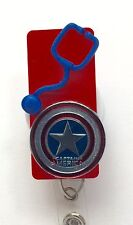 CAPTAIN AMERICA PEDIATRIC RN MEDICAL DOCTOR EMT NURSE VET ID BADGE HOLDER