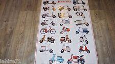 LAMBRETTA  ! affiche promo , pub retropsective  , scooter , vespa , moto