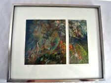 Anne Farley Gaines Mixed Media 3 Dimensional Artwork Signed 1982 Aquatic Tendril