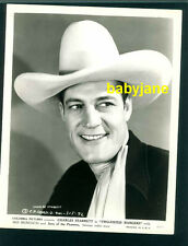 CHARLES STARRETT VINTAGE 8X10 PHOTO 1940 TWO-FISTED RANGERS COWBOY PORTRAIT