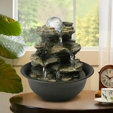 Cascading Fountains Rock Tower Tabletop Fountain