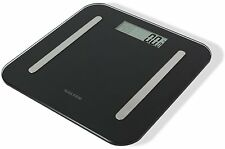 Salter Weighing Scale Black Gl Stowaweigh 9147 Body Fat Yser Bathroom