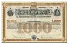 Pine Creek Railway Company Bond Certificate Signed by Vanderbilt & DePew