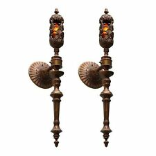 19th Century Palatial Large Pair of Wall Torchieres Sconces from A Chateau