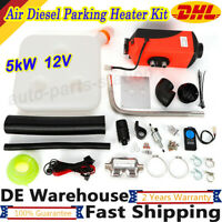 5KW 12V Air Diesel Parking Heater Kit For Car RV Motorhome Truck Boat Van Top !