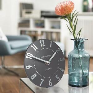 Thomas Kent Mulberry Mantel Clock in Graphite Silver 15 x 15cm