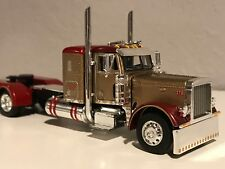 "DCP 1/64 PETERBILT 379 36"" FLAT TOP GOLD & MAROON 300"" FRAME (5 5/8"" LONG)"