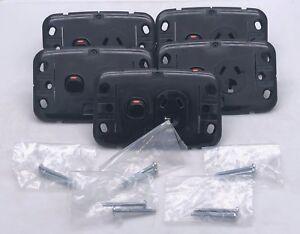 Clipsal SL2015 Single Switch Socket Outlet 10A 250V 30M BLACK NO Cover x5