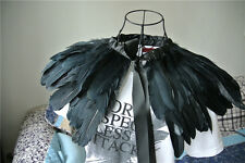 Black feather cape top feather jacket feather shawl GOOSE feather cape 2 PLY one