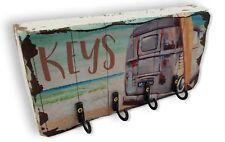 Metal and Wood Key Rack Holder Keyrack Coastal Kombi Surfboard Timber Home Décor