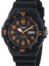 Casio Original New MRW-200H-4BV Orange Analog Mens Watch 100m WR MRW-200