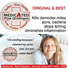 Medicated PINK OINTMENT Sulphur Salicylic Zinc Acne ECZEMA Dermatitis Psoriasis