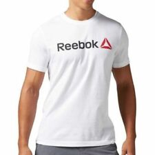 Maglie e top da uomo Reebok in poliestere per palestra, fitness, corsa e yoga