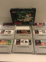 SUPER NINTENDO SNES GAMES BUNDLE INC FIFA - VERY FAST FREE UK POSTAGE