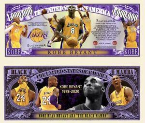 Pack Of 50 - LA Lakers Kobe Bryant Black Mamba Dollar Bills Limited Edition