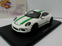 """Spark S4956 - Porsche 911 R Baujahr 2017 in """" weiß-grün """" 1:43 NEU"""
