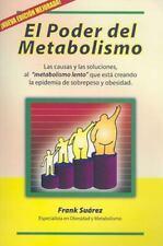 El Poder del Metabolismo (Spanish Edition) by Frank Suarez (Paperback) NEW