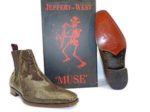 Jeffery West MUSE Chelsea Herren Stiefel Stiefelette Boots Schlangenoptik NEU 42