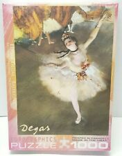 EuroGraphics Ballerina by Edgar Degas 1000 Piece Puzzle New SEALED