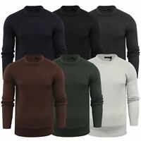 Brave Soul Fulton Mens Jumper Kintted Crew Neck Sweater