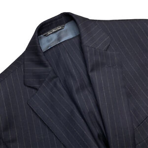 Mint 40 S Barneys NY  X Loro Piana Slim Fit Navy Blue Pin Stripe Wool Suit