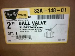 "Apollo 83A-148-01 2"" Ball Valve - New in Box"