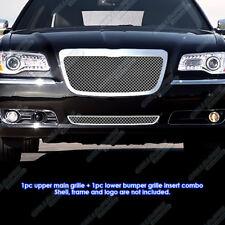 Custom Fits 2011-2012 Chrysler 300/300C Stainless Steel Mesh Grill Combo