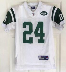 Reebok On Field Darrell Revis #24 NY Jets White NFL Jersey Youth Size M (10-12)