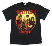 Motley Crue Orange Circle Final World Tour Black T Shirt New Official Band Merch