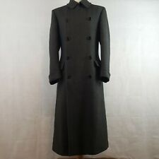 Aquascutum Mens Winter Coat Grey 40 Luxurious Wool Cashmere Double Breasted Long